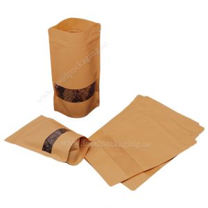 Stand Up Pouches With Rectangle Window